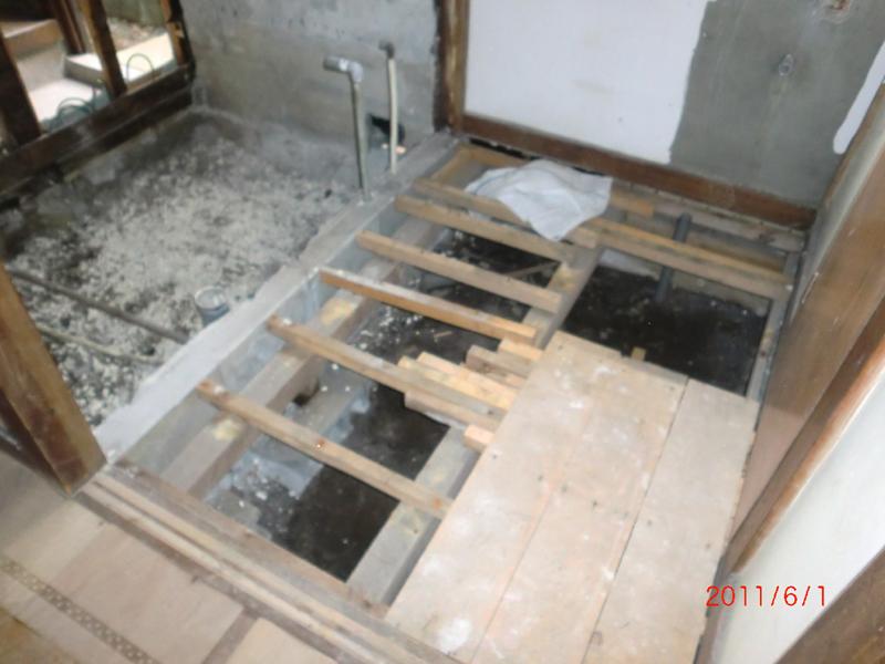 浴室リフォーム 施工中